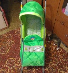 Санки-коляска детские.