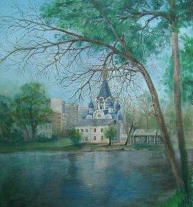 """Картина """"Храм в Костино"""""""