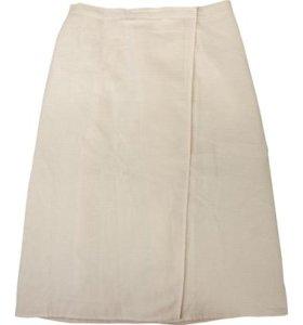 Вафельная накидка для мужчин белая 145х60 см
