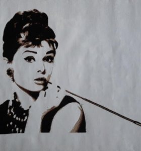 Картина Одри вышитая крестом