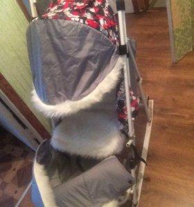 Санки коляска,почти новые
