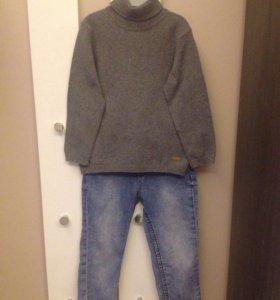 Водолазка с джинсами 104