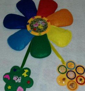 Цветок из фетра с наполнителями
