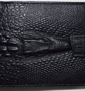 """Кожанный бумажник """"Алигатор"""""""
