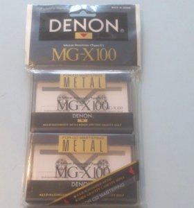 Продам аудиокассету Denon MGX 100 новая.