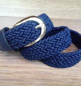Новый ремень плетеный резинкой