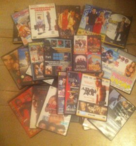 Диски DVD, с киношками.