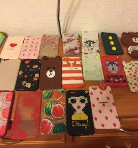 Чехлы от айфон 6 плюс по 100 рублей за штуку