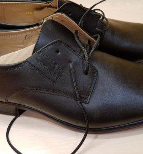Новые нат.кож. мужские туфли