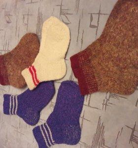 Шерстяные носки размер 36-38