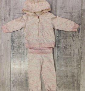 Тёплый костюм H'M для девочки р.74