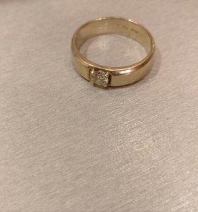 Перстень мужской с бриллиантом