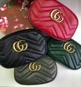 Gucci сумка женская на пояс натуральная кожа