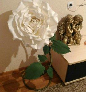 Гигантская роза, большие цветы