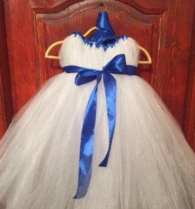 Платье белое пачка в наличии и на заказ
