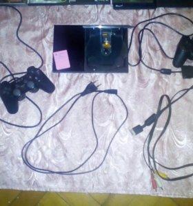 Playstation 2 slim+18 дисков