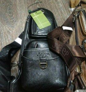Новая Мужская кожаная сумкаJeep1941(кабура)