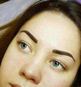 Перманентный макияж Татуаж- брови, губы, веки