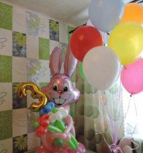 Гелиевые шары,аниматор,рост.цветы,комп.из шаров
