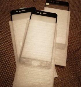 Защитное стекло 5D и чехол для Huawei P10 Plus