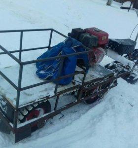 Самодельный снегоход