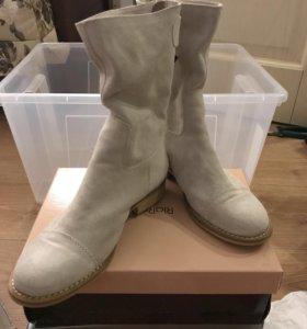 Шикарные итальянские замшевые ботинки