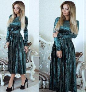 Новое красивое бархатное платье