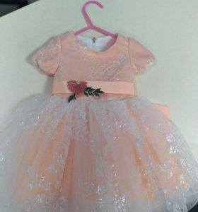 Новое детское платье на девочку от 6 до 9 месяцев