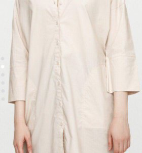 Платье - рубашка Befree бежевое