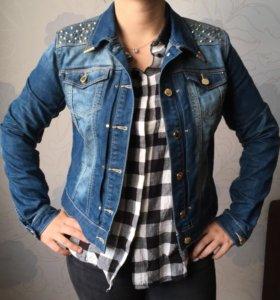 Куртка джинсовая Zolla с шипами