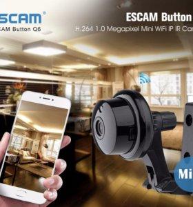 Escam Q6 1.0MP Р2Р мини-Камера WI-FI без IP адреса