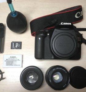 Canon eos 550d + 2 объектива