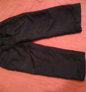 Штаны тёплые брюки на синтепоне демисезон 98р