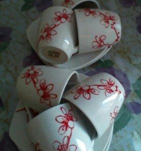 Чайный набор кружек, новый