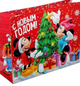 Пакет подарочный XL Микки Маус и друзья