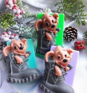 """Мыло """"Пёс в ботинке"""" - милый добрый подарок"""