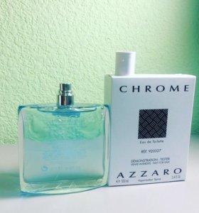 Azzaro Chrome 100ml тестер оригинал