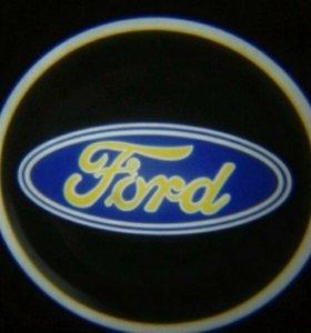 Световые проекторы логотипа ford