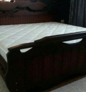 Кровать двуспальная новая готический стиль