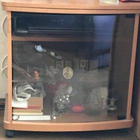 Телевизор и двд LG+тумбочка