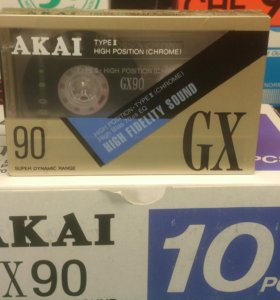 Продам аудиокассету AKAI GX 90 новая