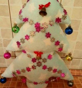 Новогодняя ёлочка - подушка