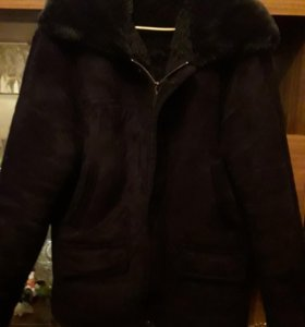 Куртка зимняя замшевая