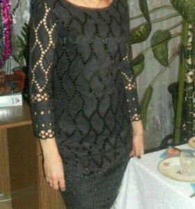 Платье иммитация замши