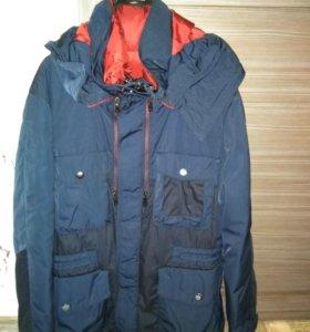 2в1: пуховик+куртка р.46-48 Zara
