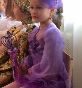 Новогодний костюм «Фея сирени». На 5 лет.