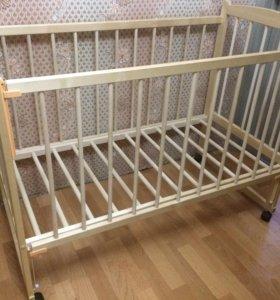 Новая детская кроватка+матрац