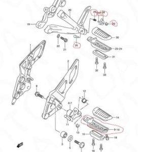 Запчасти от сузуки GSX650F