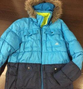 Адидас XL куртка зима