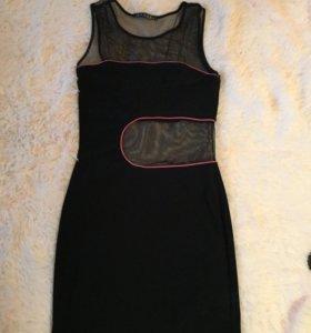 Эксклюзивное платье новое. Чёрное с сеткой. 44-46р